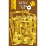 """Набор декоративных рамок с фольгированием №1 """"GOLD"""" 39 шт. Fabrika Decoru. YA000267"""
