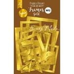 """Набор декоративных рамок зеркальных №2 """"GOLD"""" 50 шт. Fabrika Decoru. YA000268"""
