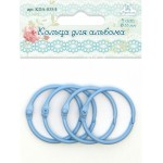 Кольца для альбома, голубые. Диаметр 35 мм, цена 4шт, Рукоделие, YA000303