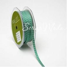 Лента твиловая узкая Зелёная, размер 0,6 см., May Arts, цена за 1 ярд, YA000402