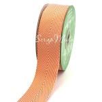 Лента твиловая широкая Оранжевая, размер 4 см., May Arts, цена за 1 ярд, YA000403