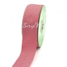 Лента твиловая широкая Красная, размер 4 см., May Arts, цена за 1 ярд, YA000407