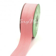 Лента твиловая широкая Розовая, размер 4 см., May Arts, цена за 1 ярд, YA000408